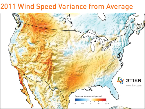 2011 wind speed variance map
