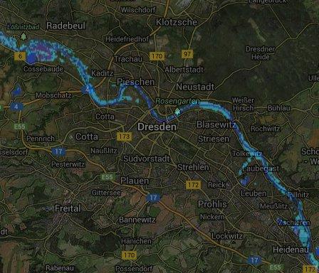 PERILS Satellite flood footprint image overlaying a map