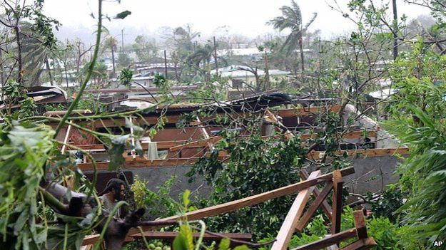 Cyclone Pam damage on Vanuatu