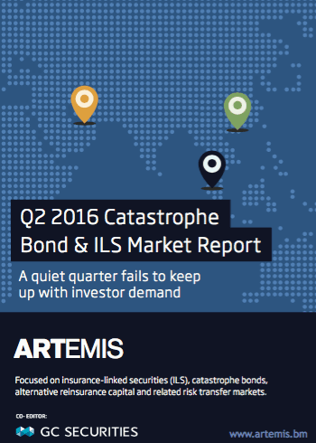 Q2 2016 Catastrophe Bond & ILS Market Report