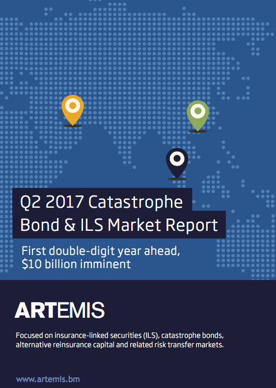 Q2 2017 Catastrophe Bond & ILS Market Report – First double-digit year ahead, $10 billion imminent