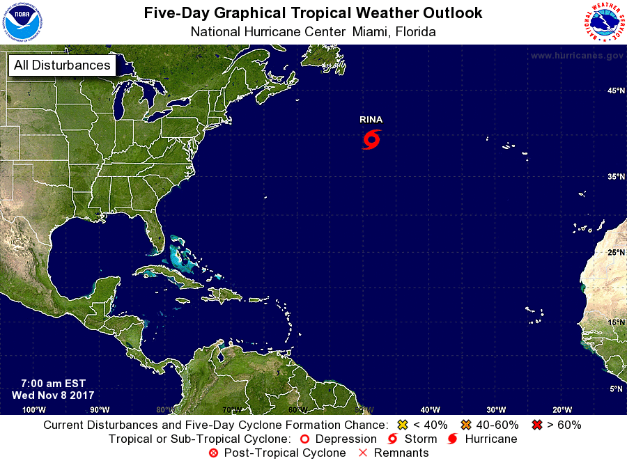 Tropical storm and hurricane weather outlook