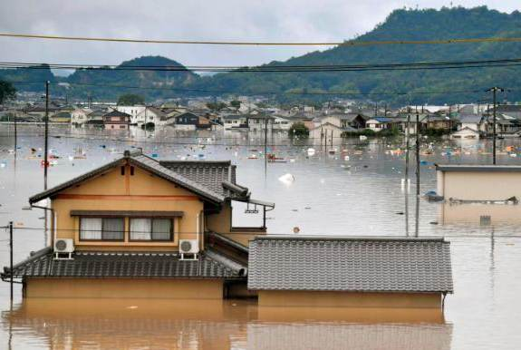 Japan flooding image via AP & CNN