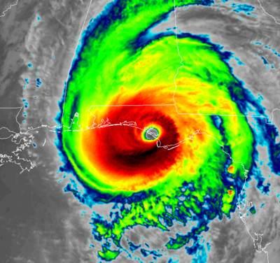 Hurricane Michael IR satellite image from RAMMB-CIRA
