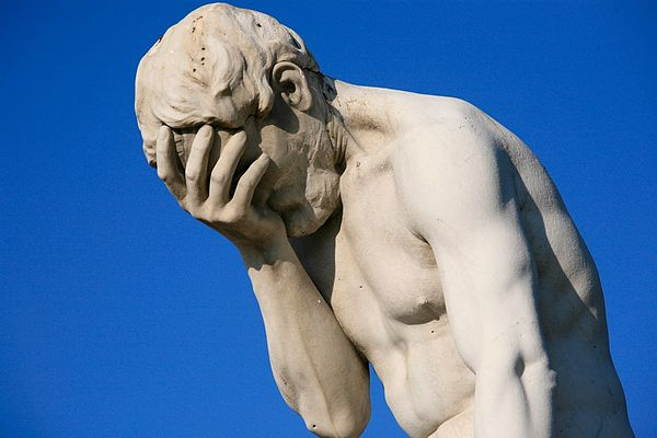 Face palm statue reinsurance