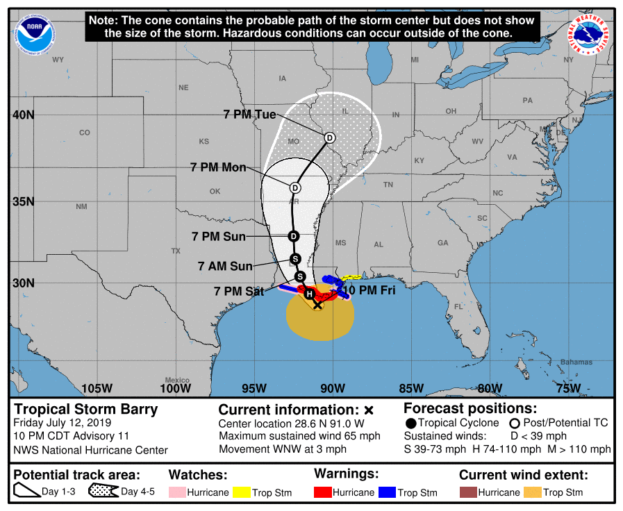 Tropical storm or hurricane Barry image