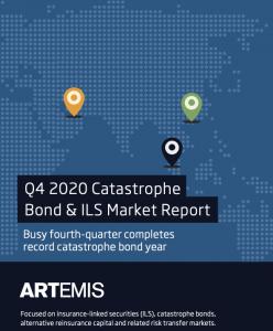 Q4 2020 catastrophe bond ILS market report cover