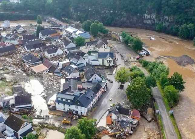 Flooding in Germany, photo from Christoph Reichwein - AFP